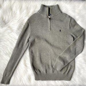 Polo Ralph Lauren Boys Gray 1/4 Zip Sweater 14/16